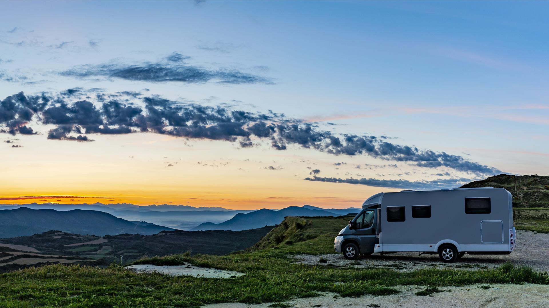 Reisemobil Sonnenaufgang