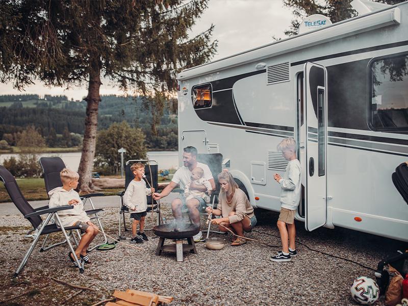 Reisemobil Familie